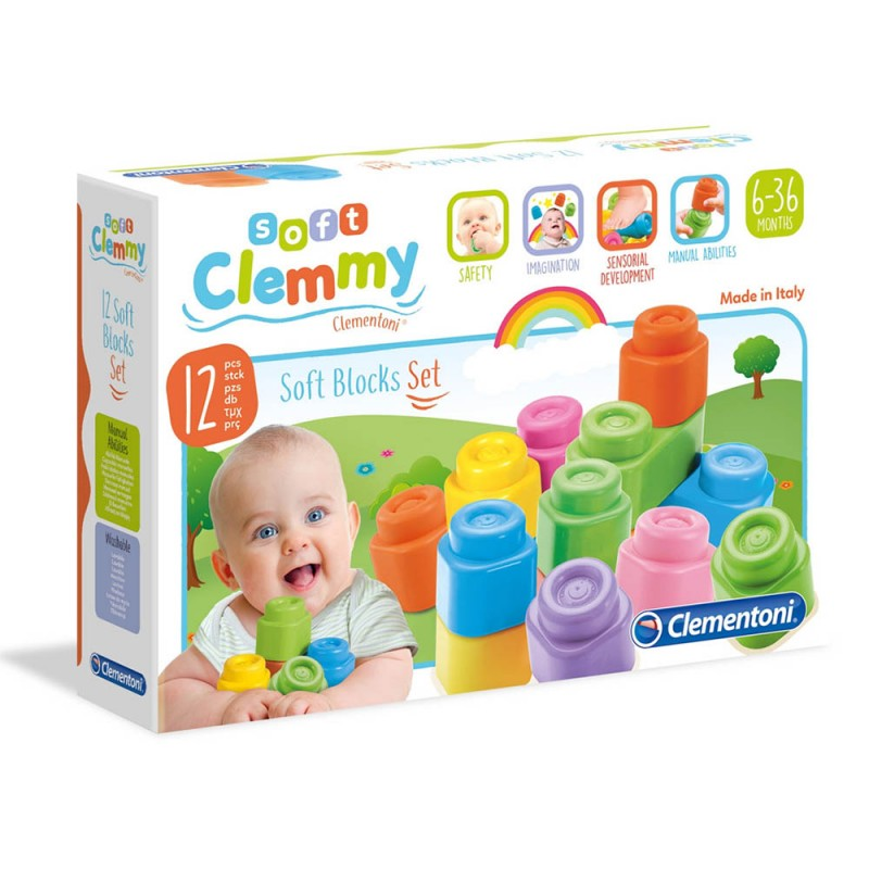 Clemmy Baby 12 Blocchi Soft - Clementoni - MazzeoGiocattoli.it