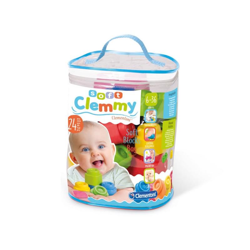 Clemmy Baby Sacca Da 24 Blocchi Soft - Clementoni - MazzeoGiocattoli.it