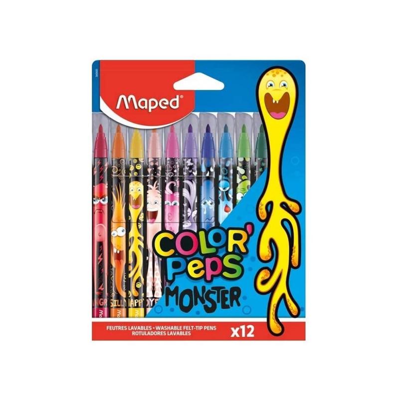 Confezione 12 Penne Colorate - Maped - MazzeoGiocattoli.it