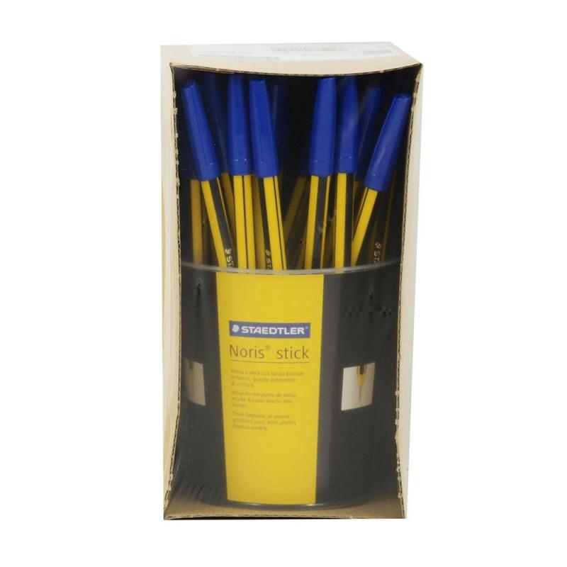 Confezione 50 Penne Blu A Sfera - Staedtler - MazzeoGiocattoli.it