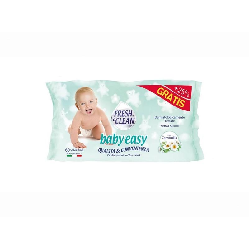 Confezione 60 Salviettine Detergenti - Fresh & Clean  - MazzeoGiocattoli.it