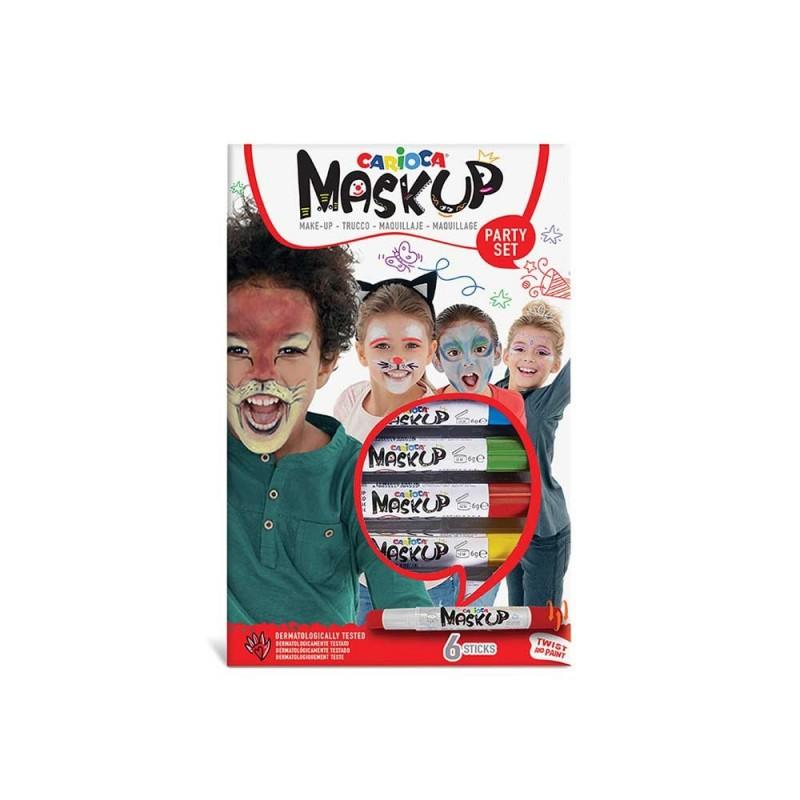 Confezione 6 Sticks Colorati Per Trucco Bimbi - Carioca - MazzeoGiocattoli.it
