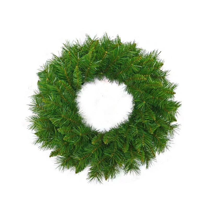 Corona Di Natale Verde Cm 60  - MazzeoGiocattoli.it