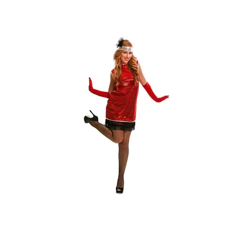 Costume Charleston Rosso Tg. S - MazzeoGiocattoli.it