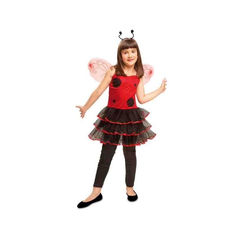 Costume Coccinella Chic Per Bambina - 3-4 Anni - MazzeoGiocattoli.it