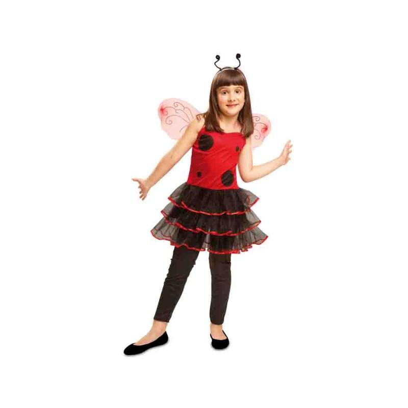 Costume Coccinella Chic Per Bambina 5-6 Anni - MazzeoGiocattoli.it