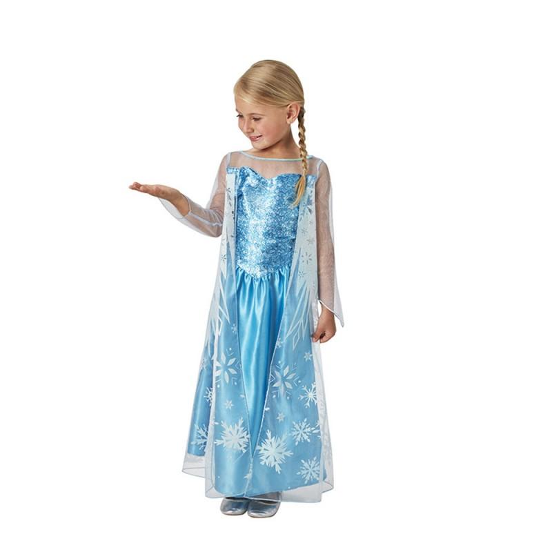 Costume Elsa Classica Frozen Per Bambina Taglia M - Rubie's - MazzeoGiocattoli.it