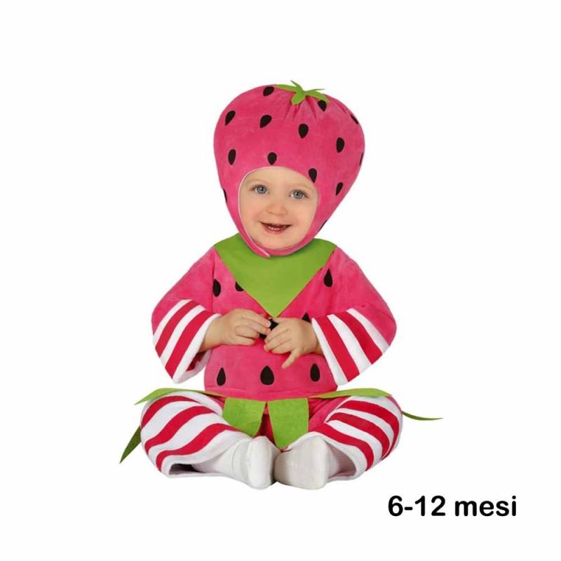 Costume Da Fragola Per Neonati Di Colore Rosa 6-12 Mesi - MazzeoGiocattoli.it