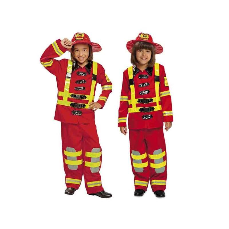 Costume Da Pompiere Bambino Taglia 7-9 Anni - MazzeoGiocattoli.it