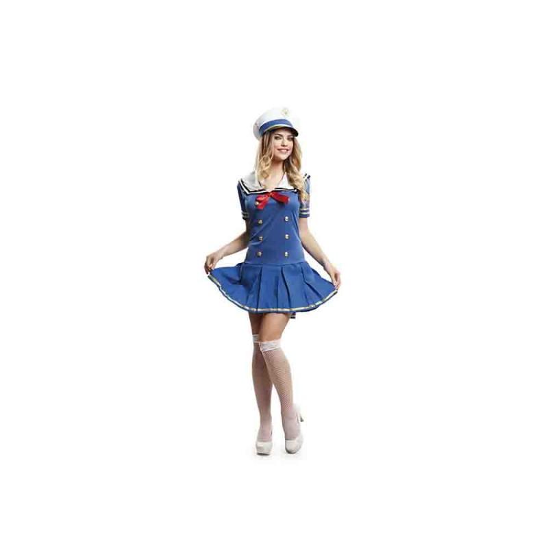 Costume Marinaia Azzurra Per Adulta Taglia M-L - MazzeoGiocattoli.it
