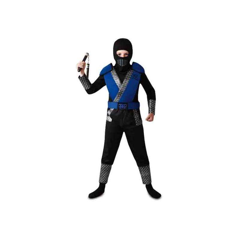 Costume Ninja Blu Per Bambino 5-6 Anni - MazzeoGiocattoli.it