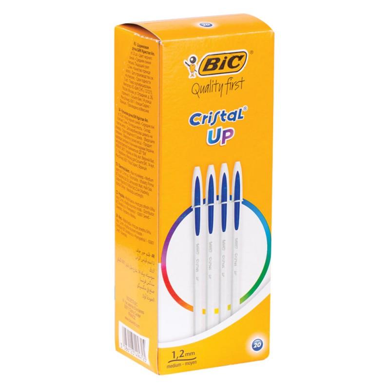 20 Pezzi Penna Bic Cristal Up Blu - MazzeoGiocattoli.it