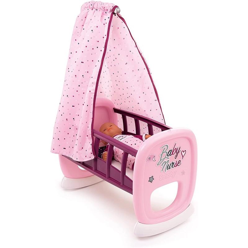 Culla Per Bambole Baby Nurse Con Baldacchino - Smoby  - MazzeoGiocattoli.it