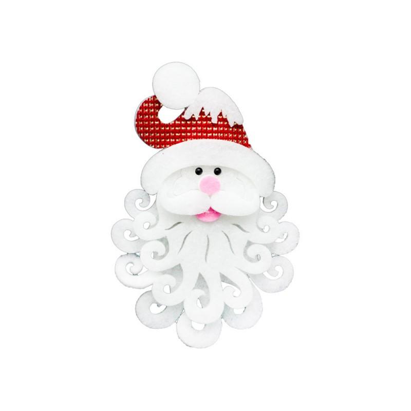 Decorazione Volto Di Babbo Natale - MazzeoGiocattoli.it