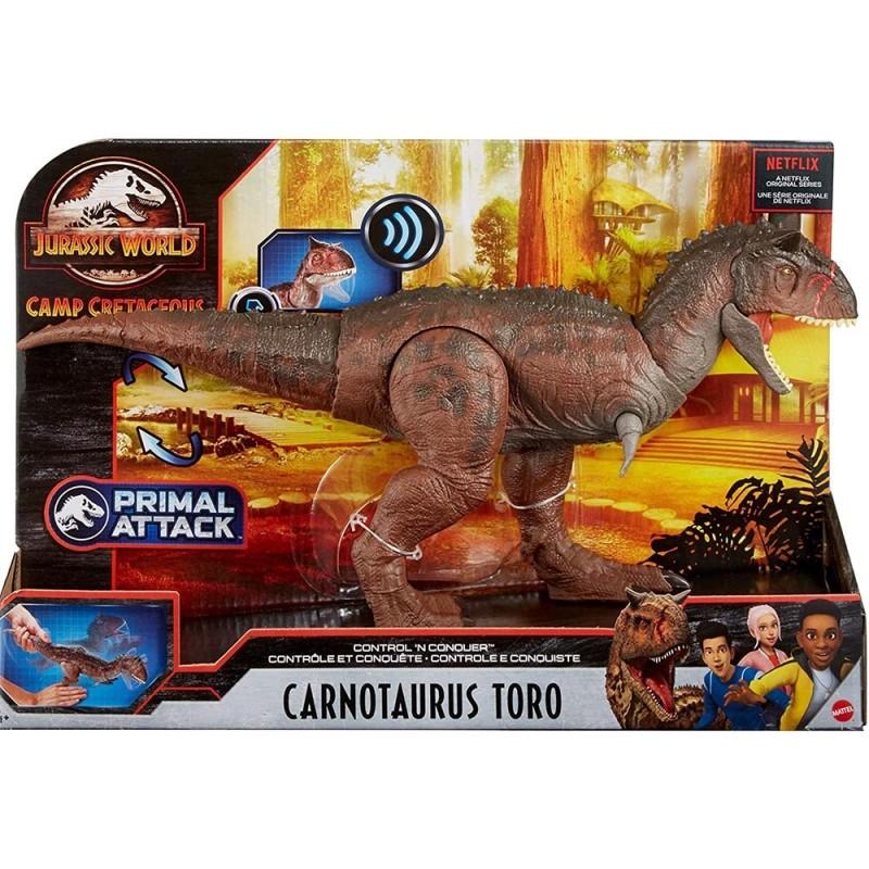 Dinosauro Carnotauro Toro Jurassic World - Mattel  - MazzeoGiocattoli.it