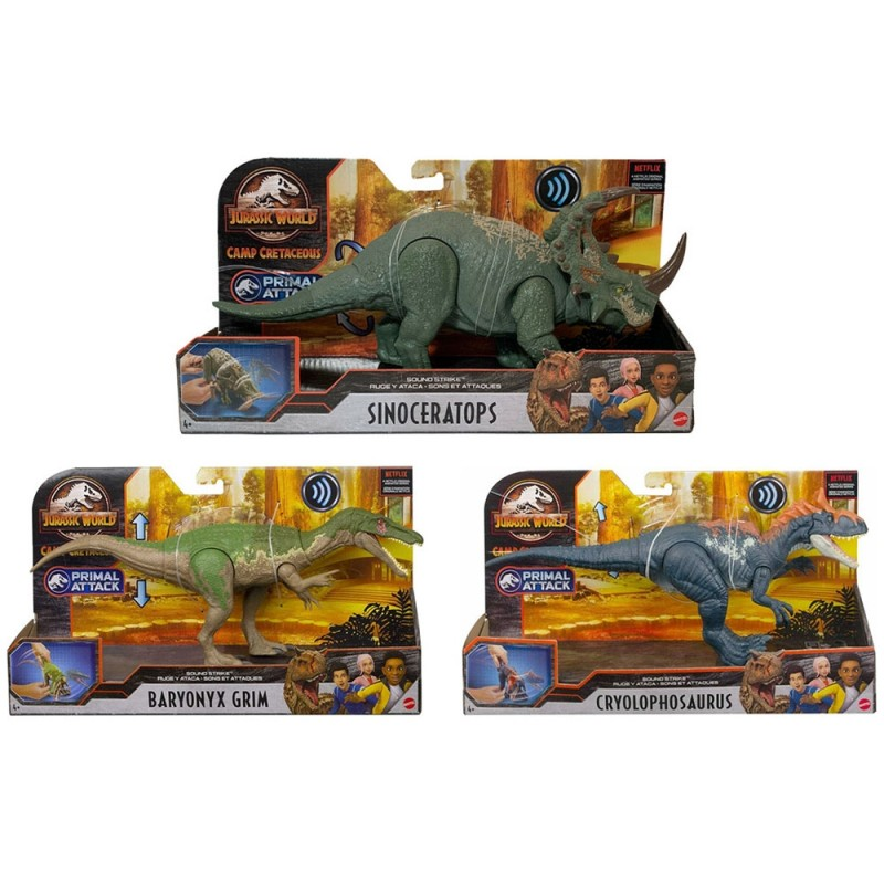 Dinosauro Con Attacco Sonoro Jurassic World - Mattel  - MazzeoGiocattoli.it
