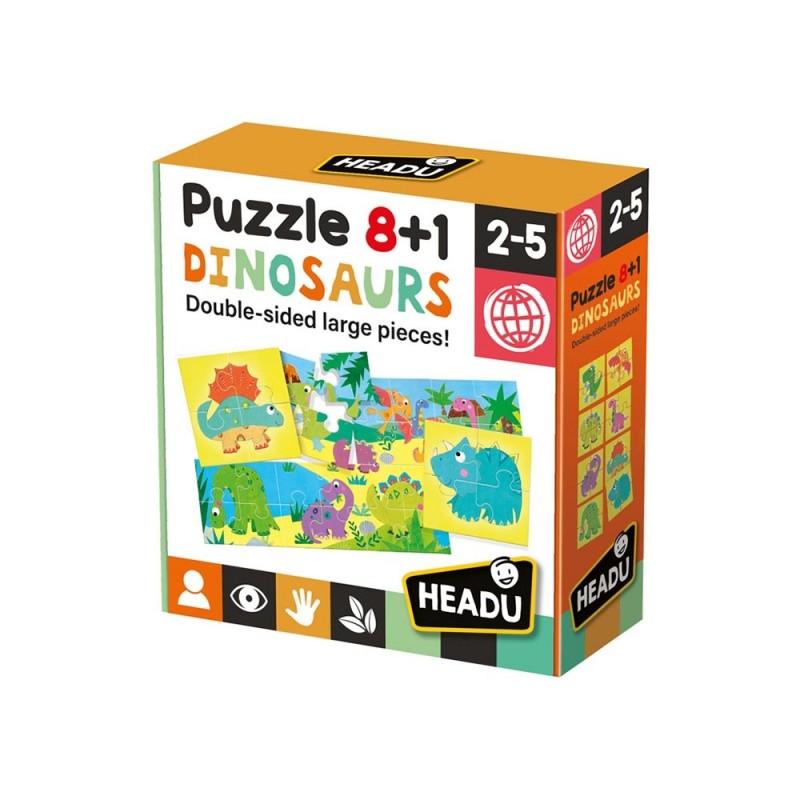 Dinosaurs Puzzle 8+1 - Headu  - MazzeoGiocattoli.it