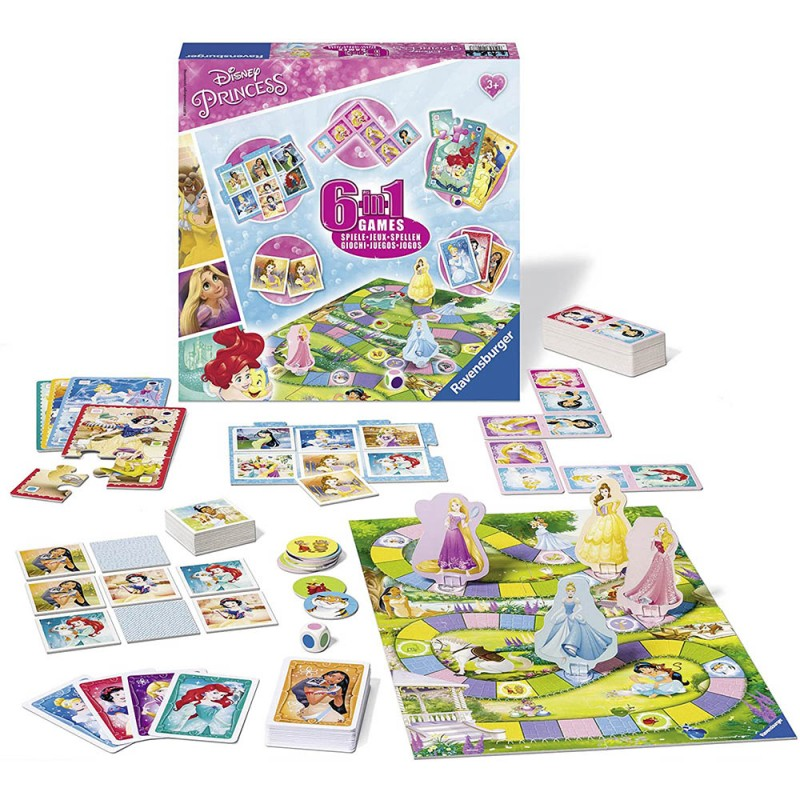 Disney Princess Gioco 6 In 1 - Ravensburger  - MazzeoGiocattoli.it