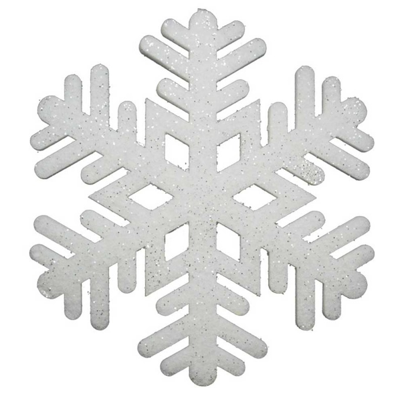 Fiocco Di Neve Decorativo 40x40 Cm -Mazzeo Giocattoli  - MazzeoGiocattoli.it