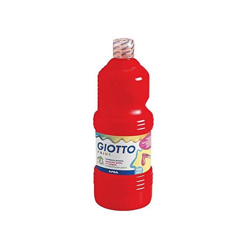 Flacone Di Tempera Colore Rosso Scarlatto 1 Litro - Giotto  - MazzeoGiocattoli.it