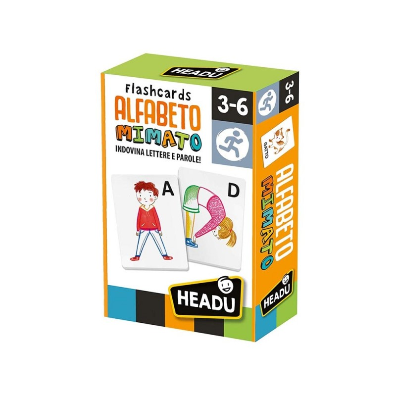 Flash Cards Alfabeto Mimato - Headu  - MazzeoGiocattoli.it