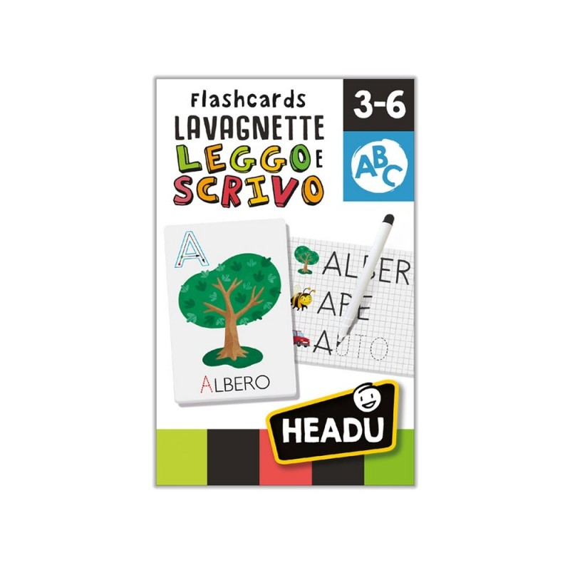 Flashcards Lavagnette Leggo E Scrivo - Headu  - MazzeoGiocattoli.it