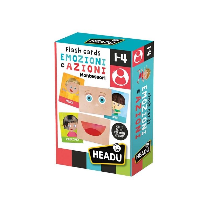Flashcards Montessori Emozioni E Azioni - Headu - MazzeoGiocattoli.it