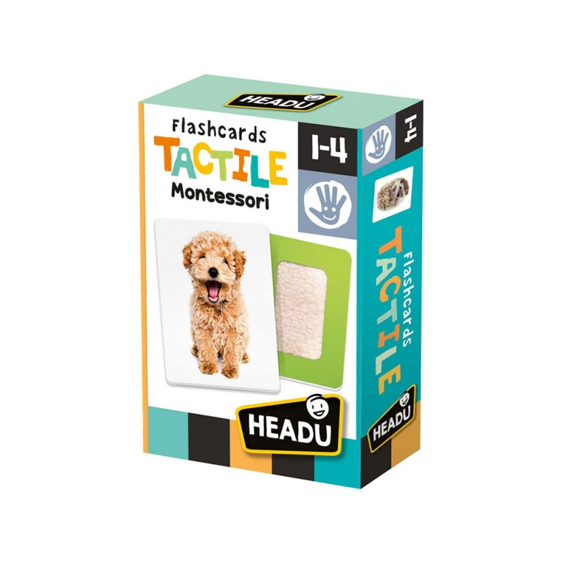 Flashcards Tactile Montessori - Headu  - MazzeoGiocattoli.it