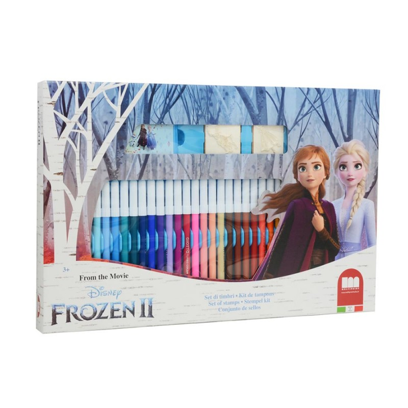 Frozen 2 Set Timbri + Pennarelli - Multiprint - MazzeoGiocattoli.it