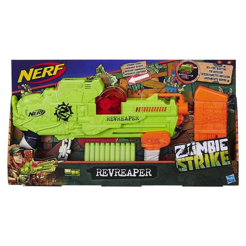 Fucile Nerf Zombie Revreaper - Hasbro - MazzeoGiocattoli.it