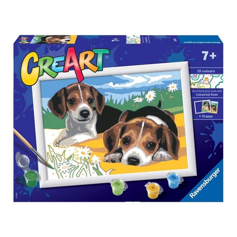 Gioco Creativo CreArt Cuccioli Jack Russell - Ravensburger - MazzeoGiocattoli.it