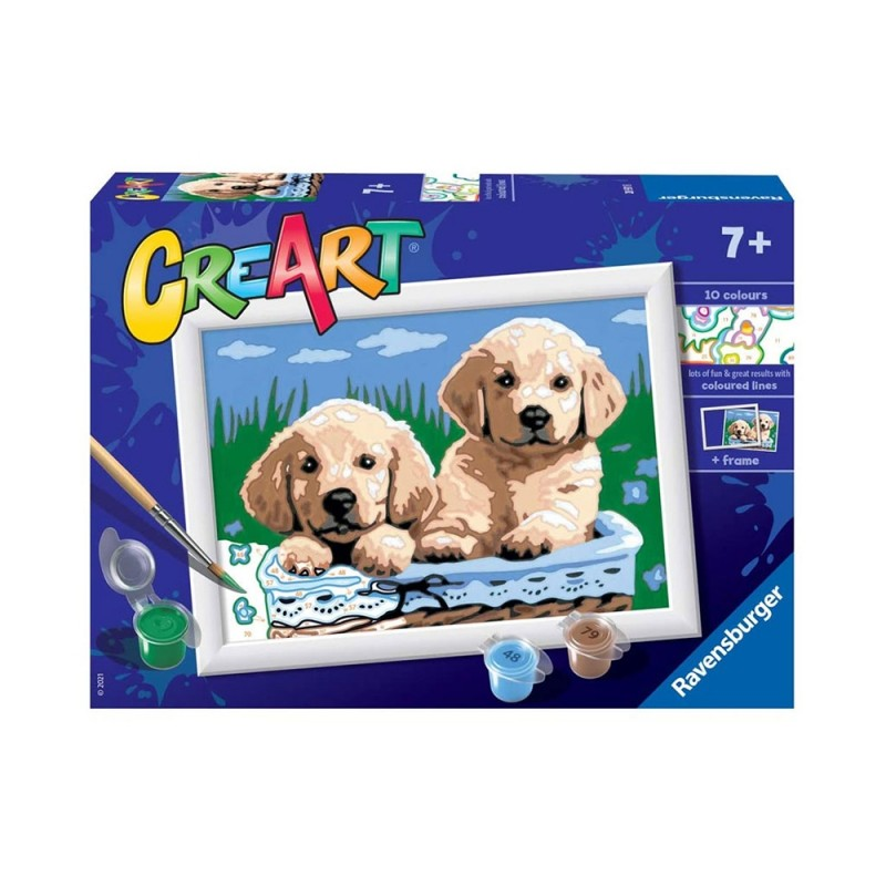 Gioco Creativo CreArt Golden Retriever - Ravensburger  - MazzeoGiocattoli.it