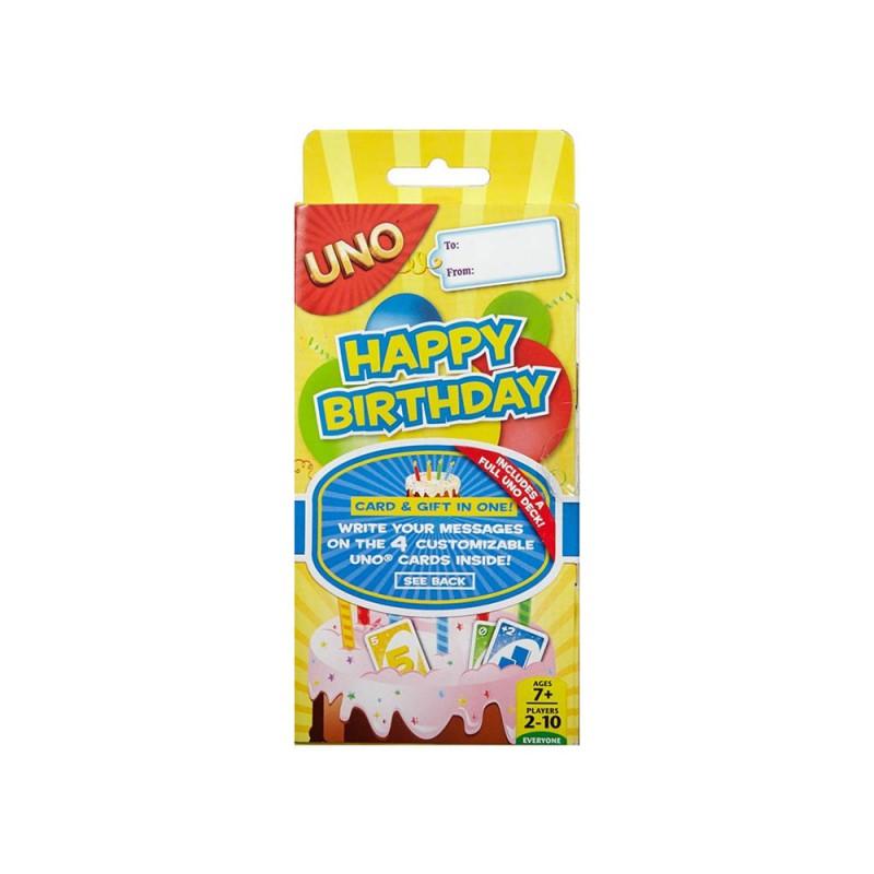 Gioco Di Carte Uno Buon Compleanno - Mattel  - MazzeoGiocattoli.it