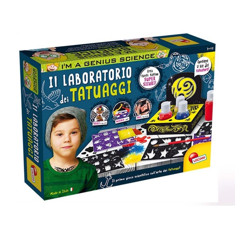 Gioco Per Bambini Laboratorio Dei Tatuaggi - Lisciani  - MazzeoGiocattoli.it