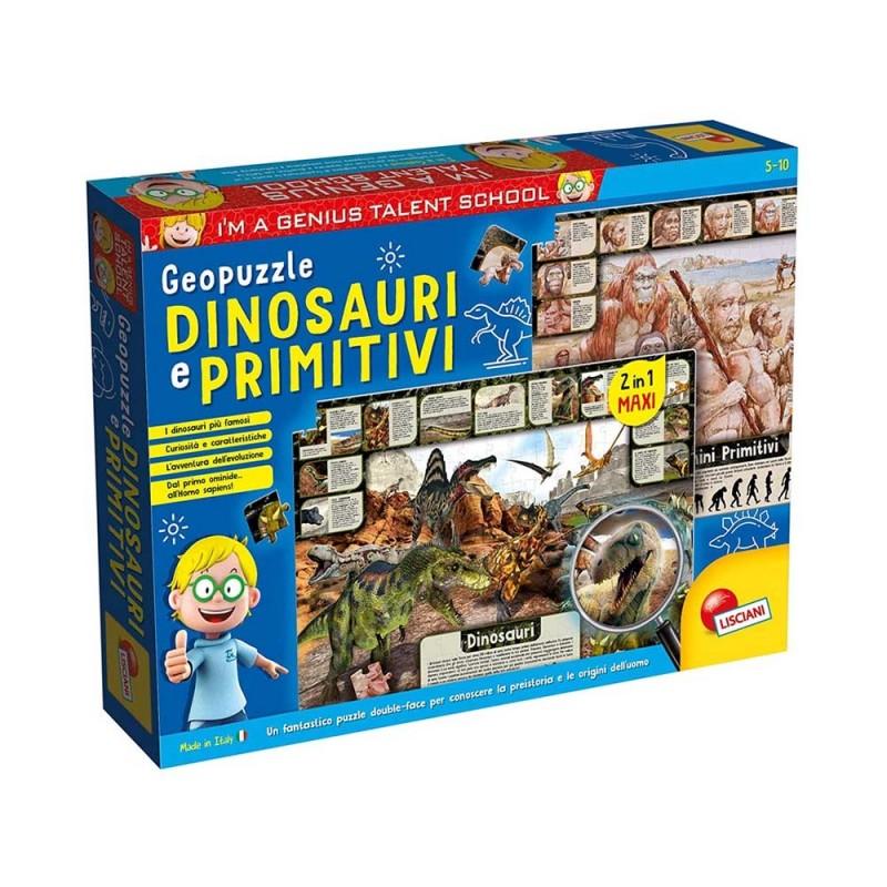 I'm A Genius Geo Puzzle Dinosauri E Primitivi - Lisciani  - MazzeoGiocattoli.it