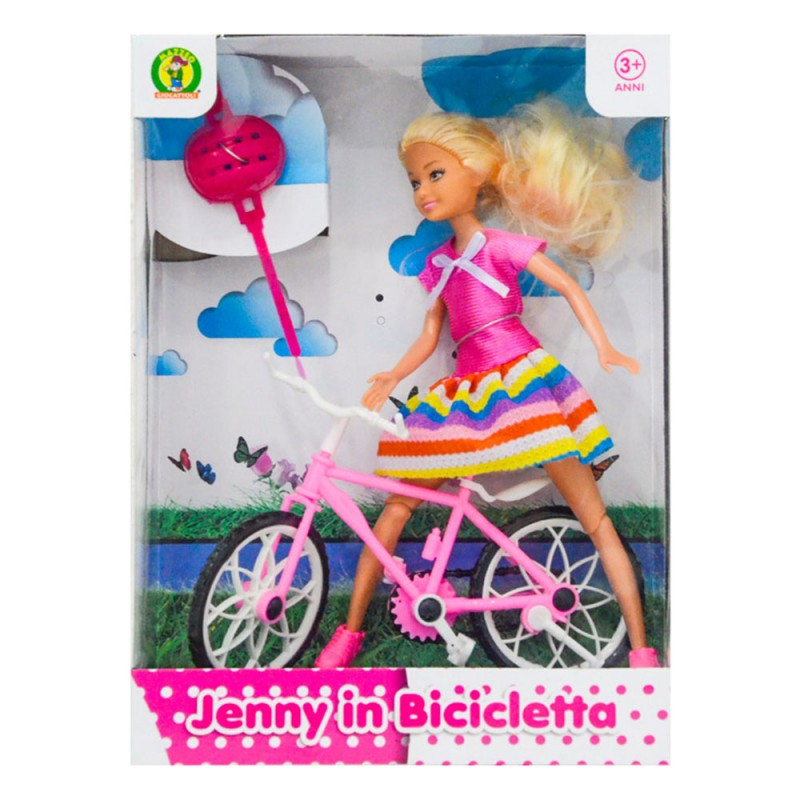 Bambola Jenny Con Bicicletta - Mazzeo Giocattoli  - MazzeoGiocattoli.it