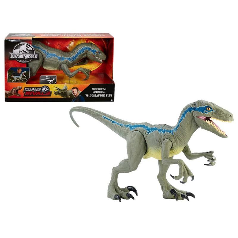 Jurassic World Dino Rivals Velociraptor Blu - Mattel - MazzeoGiocattoli.it