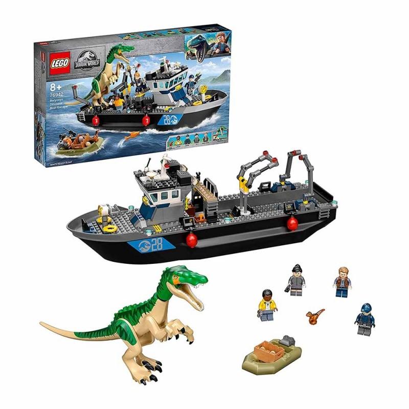 Jurassic World Fuga Sulla Barca Del Dinosauro Baryonyx - Lego - MazzeoGiocattoli.it