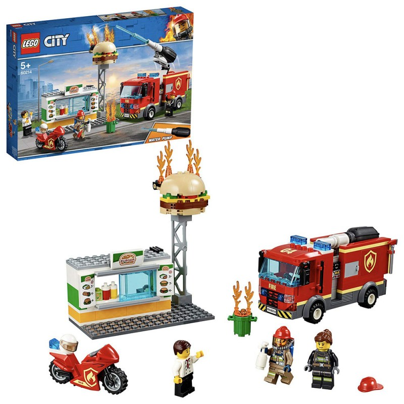 Lego City - Fiamme Al Burger Bar 60214 - MazzeoGiocattoli.it