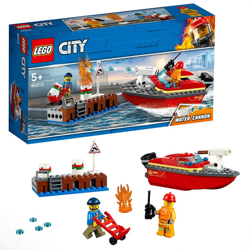 Lego City - Incendio Al Porto 60213 - MazzeoGiocattoli.it