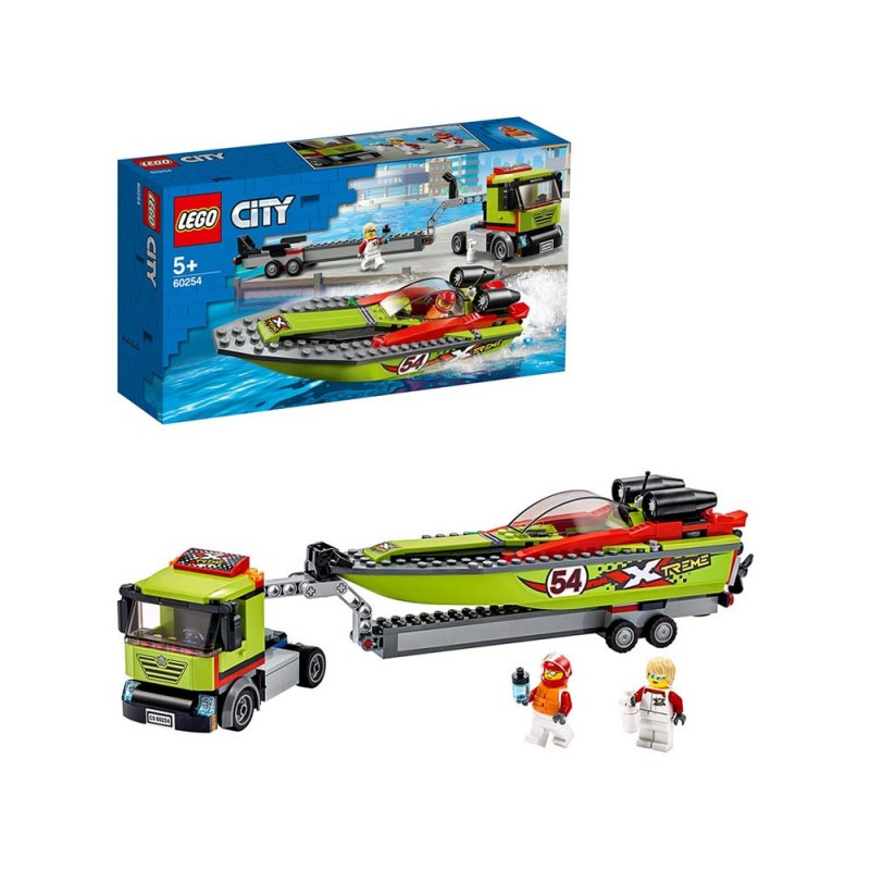 LEGO City Great Vehicles - Trasportatore Di Motoscafi - Lego - MazzeoGiocattoli.it