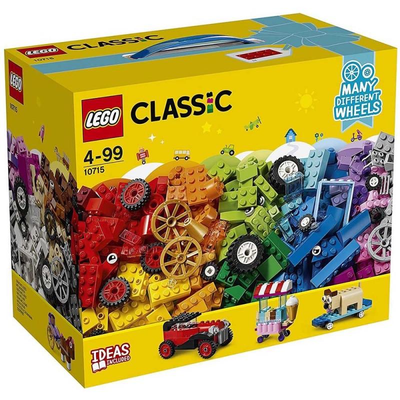 Lego Classic Mattoncini Su Ruote 10715 - MazzeoGiocattoli.it