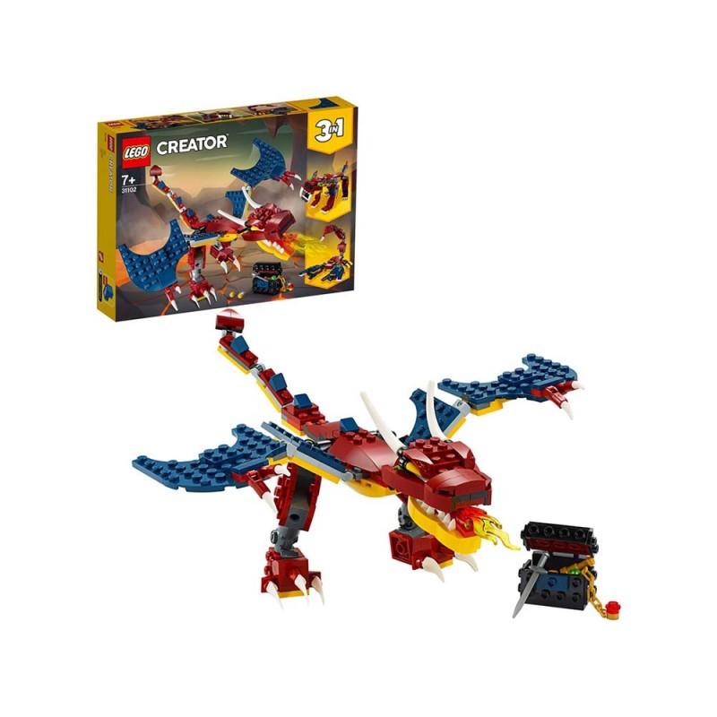 LEGO Creator 3 In 1, Drago Sputafuoco - Lego  - MazzeoGiocattoli.it