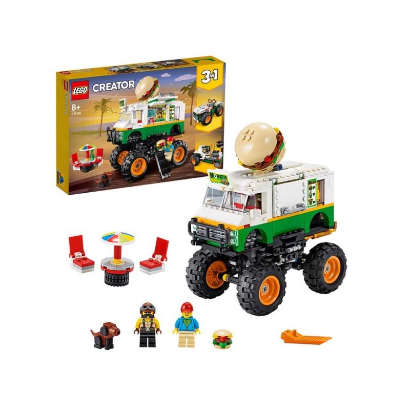 LEGO Creator 3 In 1, Il Monster Truck Degli Hamburger - Lego  - MazzeoGiocattoli.it