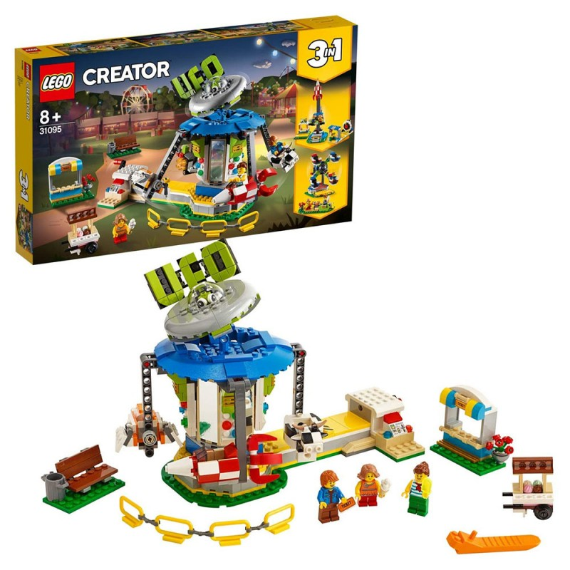 Giostra Del Luna Park, SET DI COSTRUZIONE 3 IN 1 - LEGO CREATOR  - MazzeoGiocattoli.it