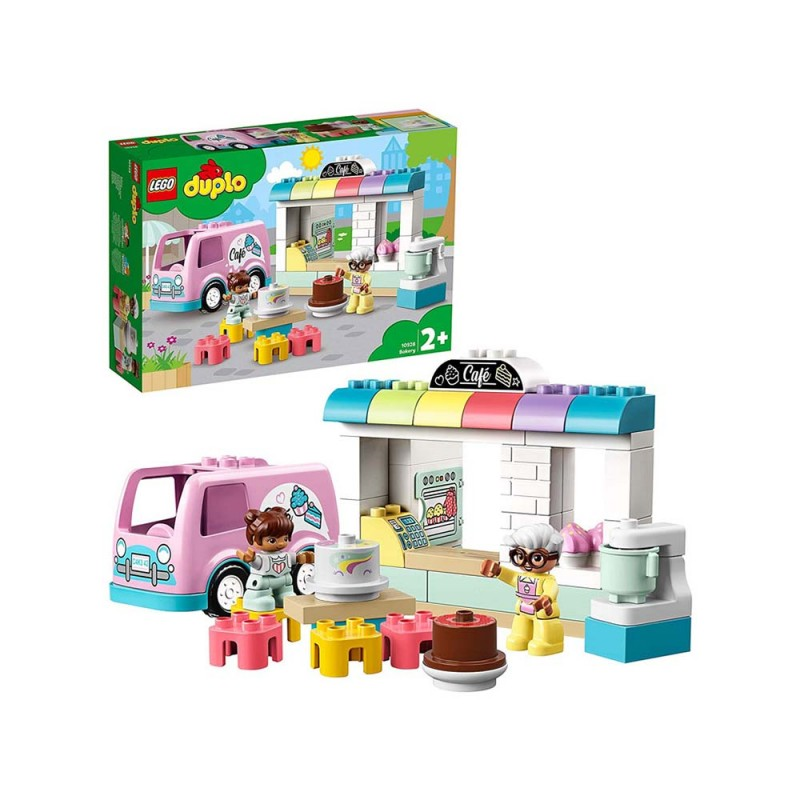 LEGO Duplo Town Pasticceria Con Bar E Furgone Delle Consegne - Lego - MazzeoGiocattoli.it