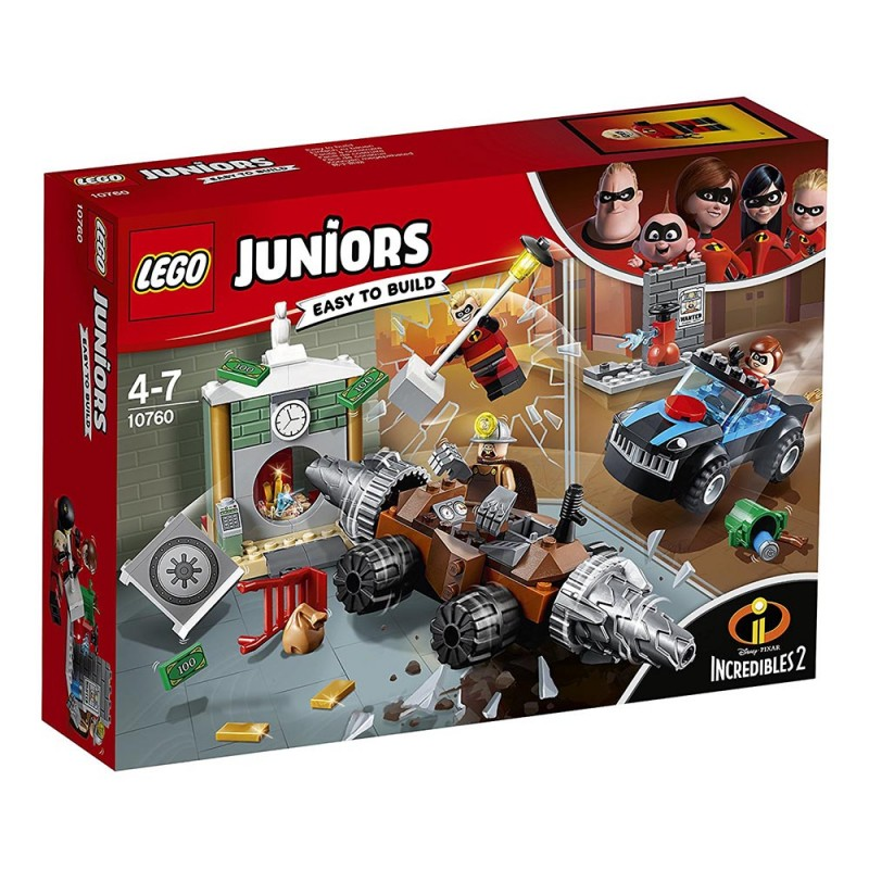 LEGO JUNIORS - RAPINA IN BANCA DEL MINATORE 10760  - MazzeoGiocattoli.it