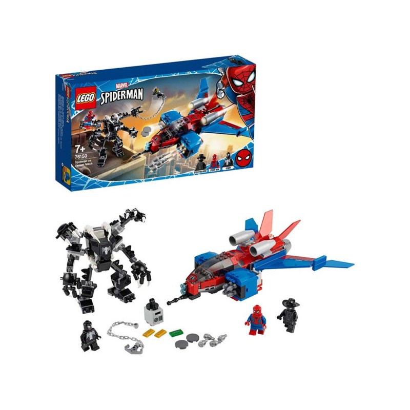 LEGO Super Heroes Spider-Jet Vs Mech Venom - Lego - MazzeoGiocattoli.it