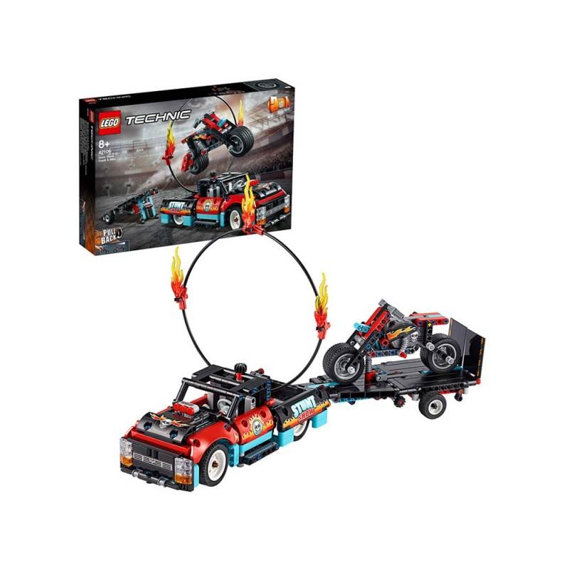 LEGO Technic Truck E Moto Dello Stunt Show - Lego - MazzeoGiocattoli.it