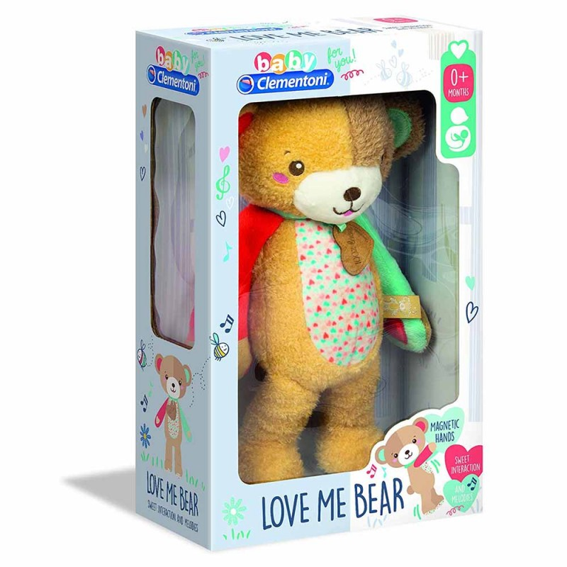 Baby For You - Love Me Bear, Gioco Primi Mesi - Clementoni - MazzeoGiocattoli.it